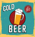 colorful cold beer poster vector image