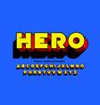 comic book superhero style font design vector image