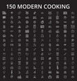 cooking icons editable line icons set on vector image