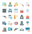 Crime and Security Icons 3 vector image vector image