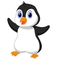 Cute baby penguin cartoon vector image vector image
