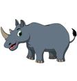 cute rhino cartoon vector image vector image