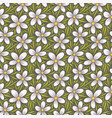 decorative floral seamless pattern hand drawn vector image vector image