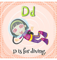 Diving vector image vector image