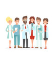 doctors team hospital vector image vector image