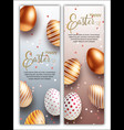easter sale white black and rose gold posters vector image