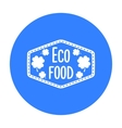Eco-food icon in black style isolated on white vector image vector image