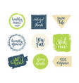 eco templates with hand lettering for logo vector image