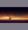evening seascape with a beautiful orange sunset vector image