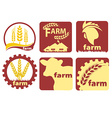 Farm Two-color Icon Set vector image vector image