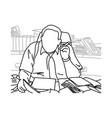 fat businessman with cigar at his desk vector image