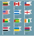 Flags set four-01 vector image