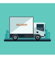 Flat design style delivery or cargo truck vector image vector image