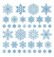 flat snowflakes winter snowflake crystals vector image vector image