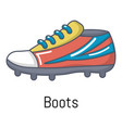 football boots icon cartoon style vector image vector image