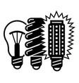 generation bulb progress icon simple style vector image