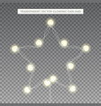 glowing garland in shape star vector image