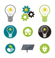 green energy solar power icons vector image vector image