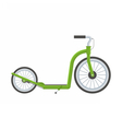 Green Kick Scooter vector image vector image
