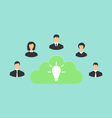 group of business people creating new idea vector image vector image