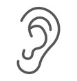human ear line icon anatomy and biology vector image vector image