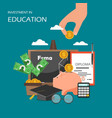 investment in education concept flat vector image