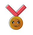 kawaii medal design vector image vector image
