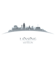 Lansing Michigan city skyline silhouette vector image vector image