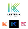 letter k logo icon design template elements vector image vector image