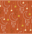 magical seamless pattern vector image vector image