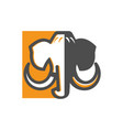 mammoth logo for your business simple clean logo vector image vector image
