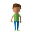 man cartoon isolated casual vector image vector image