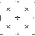 military aircraft pattern seamless black vector image vector image