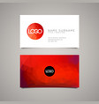 modern simple business card template vector image vector image