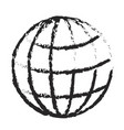 monochrome blurred silhouette of world globe icon vector image vector image