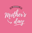 mothers-day-card-pink-background vector image vector image