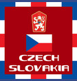 official government ensigns of czech slovakia vector image vector image
