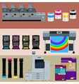 Polygraphic set vector image vector image