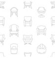 Seamless white pattern of armchairs vector image vector image