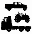 set different transport silhouettes vector image vector image