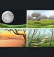set of different scene vector image vector image