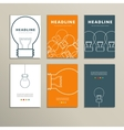 Six line patterns brochures with lights vector image
