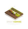 smart farming composition vector image vector image