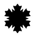 snowflake 5 0 vector image vector image