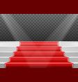 stairs template 3d realistic winner stage stairs vector image vector image