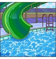 Summer fun aqua park Water hills in an aquapark vector image vector image