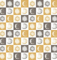 Sun and Moon Pattern vector image vector image