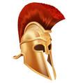 trojan helmet vector image