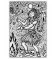 voodoo warlock engraved fantasy vector image