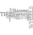 wheel and tire maintenance for your suv text word vector image vector image